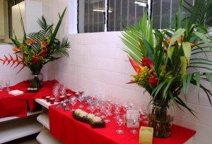 Decoração do laboratório para o evento