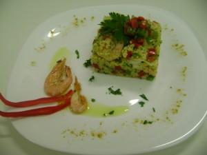 Couscous marroquino com camarão